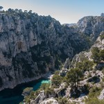 The limestone cliffs of Calanques National Park
