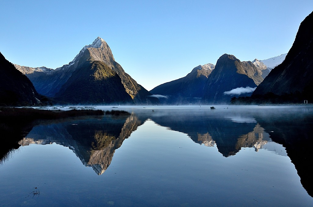 Still waters of Milford Sound