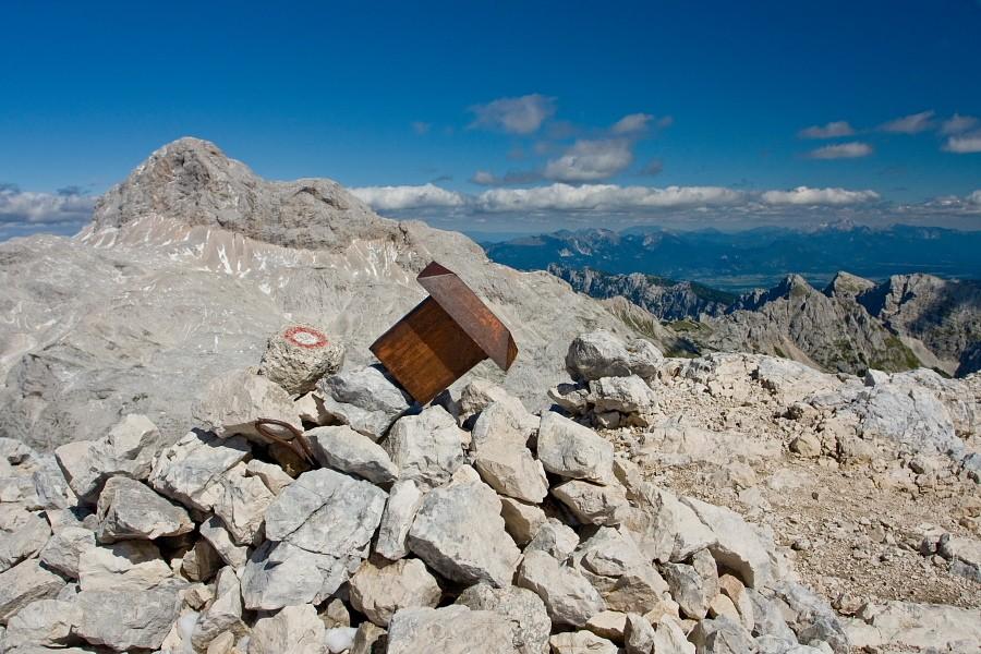Spot Mount Triglav in the distance