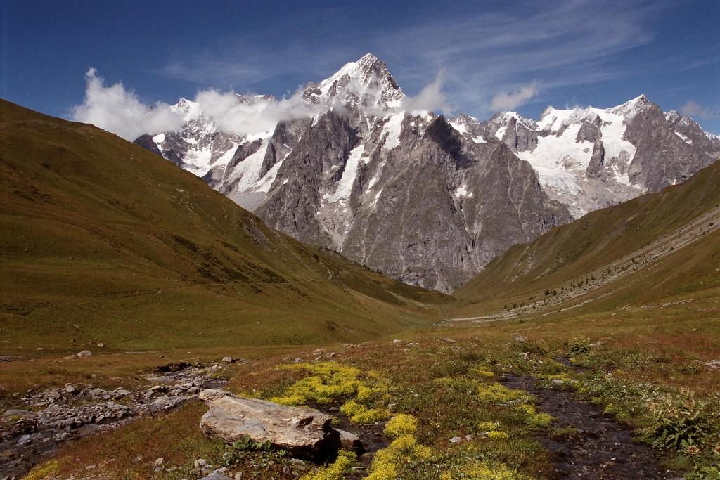 Grandes Jorasses seen from Val Ferret