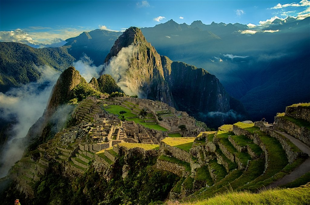 Agricultural terraces surrounding Machu Picchu