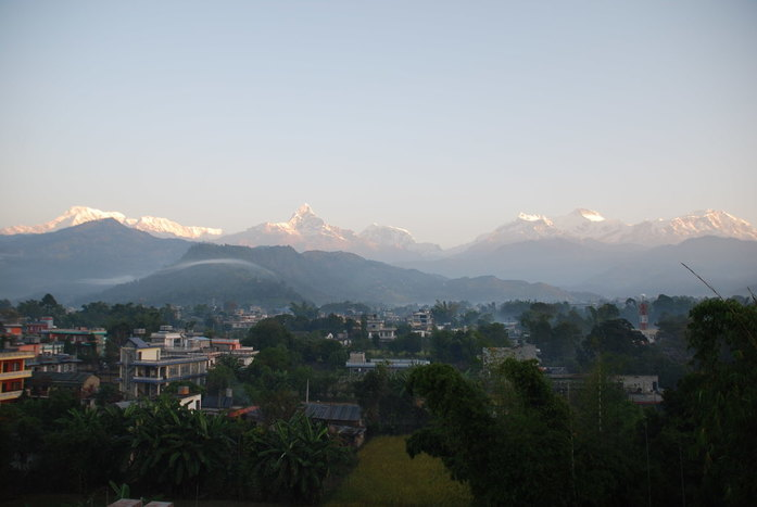 Drive to Pokhara and relax by the lake