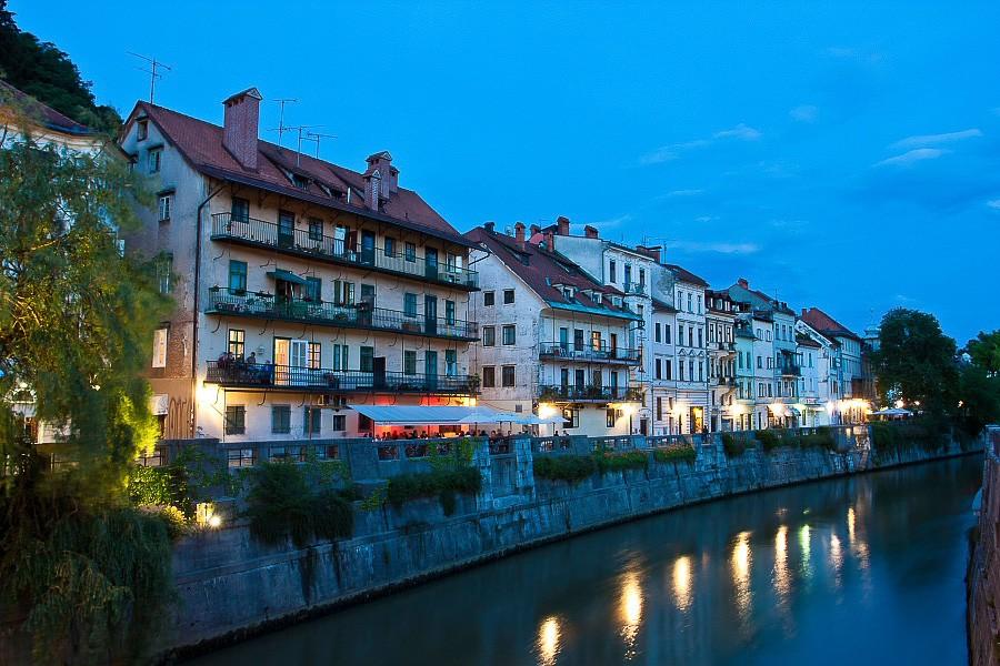 Take a seat along the Ljubljanica