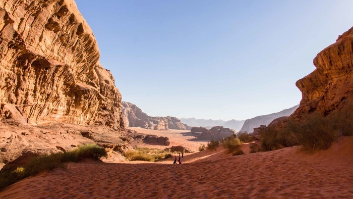 transfer to Wadi Rum, day tour and overnight stay