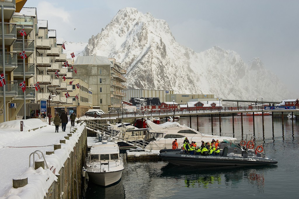 Svolvæer is a hub town in the Lofoten Islands