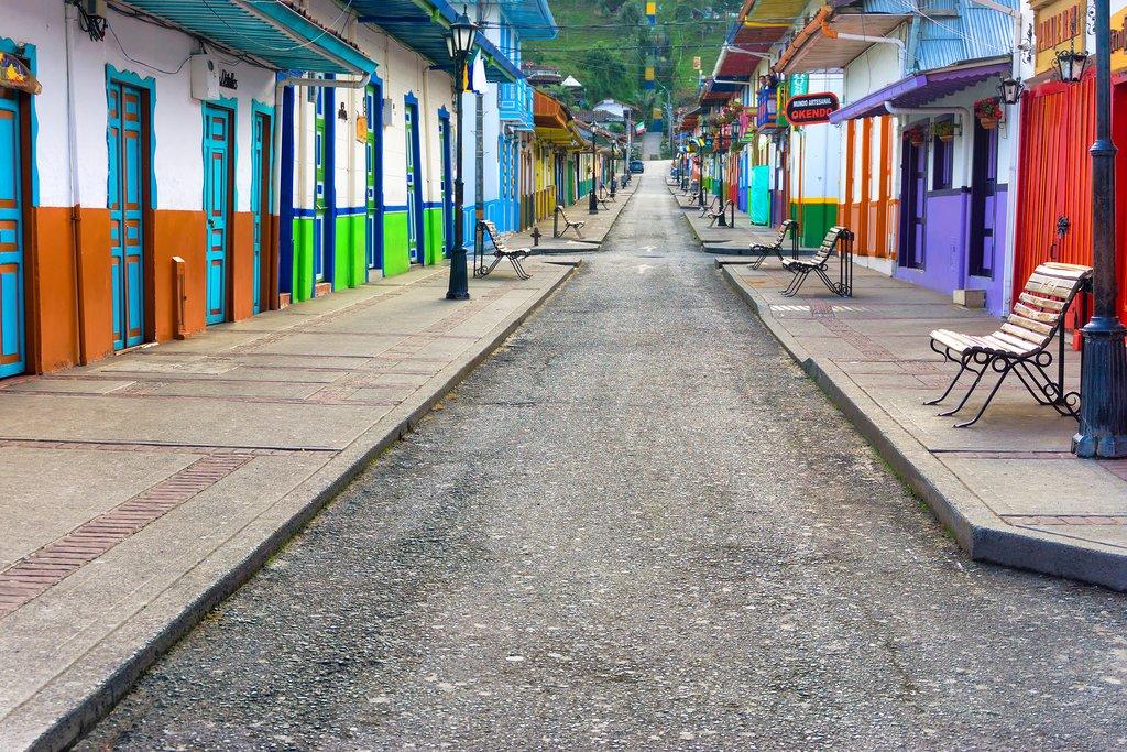 Quaint street in Salento