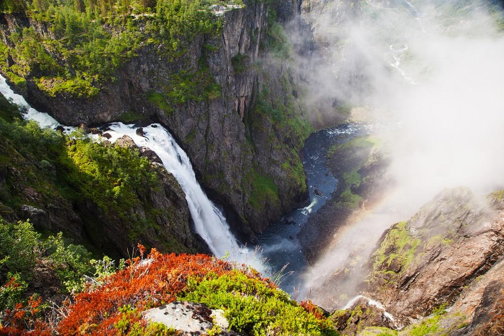 Norway's famous Voringfossen waterfall