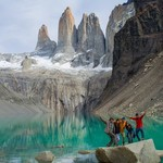 At the base of Torres del Paine