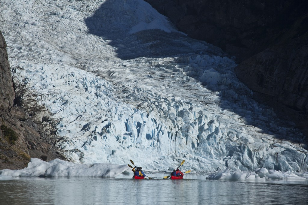 Take in the incredible glacial views via kayak