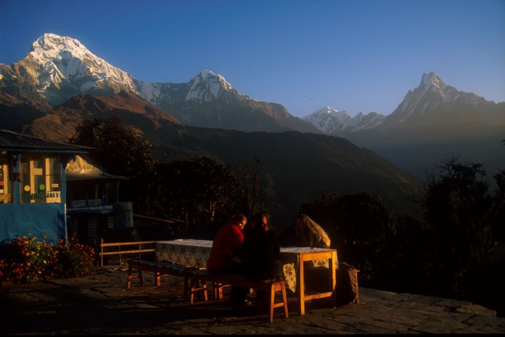 Enjoy spectacular views of the Annapurna Himalaya from the trail and teahouses