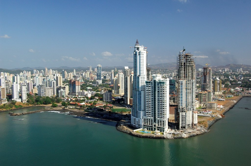 Panama City modern skycrapers