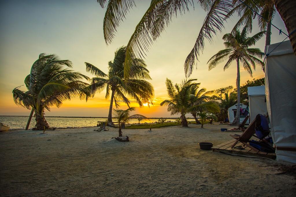 Basecamp Sunsets at Glover' Reef, Belize