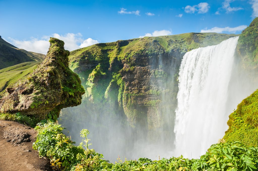 Walk the trails of these spectacular waterfalls on the way to the Golden Circle
