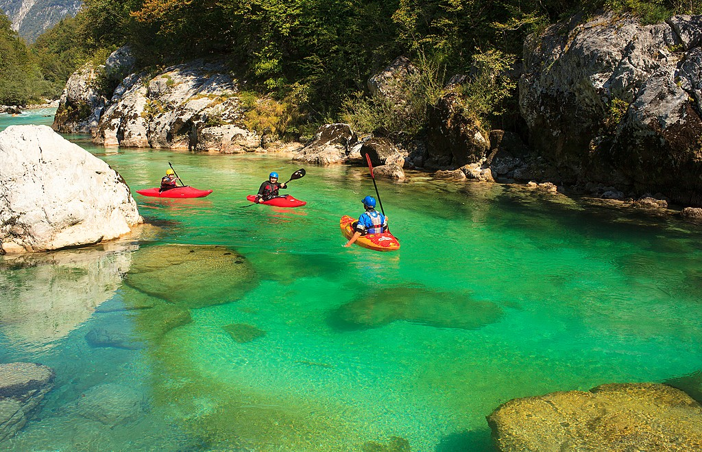 See the colors of the Soča river