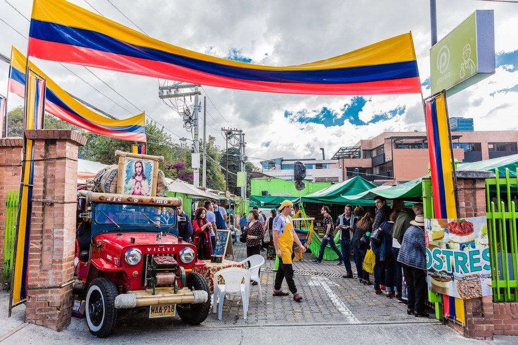 Street market in Bogotá