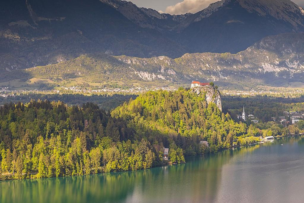 Explore Bled Castle for clifftop views