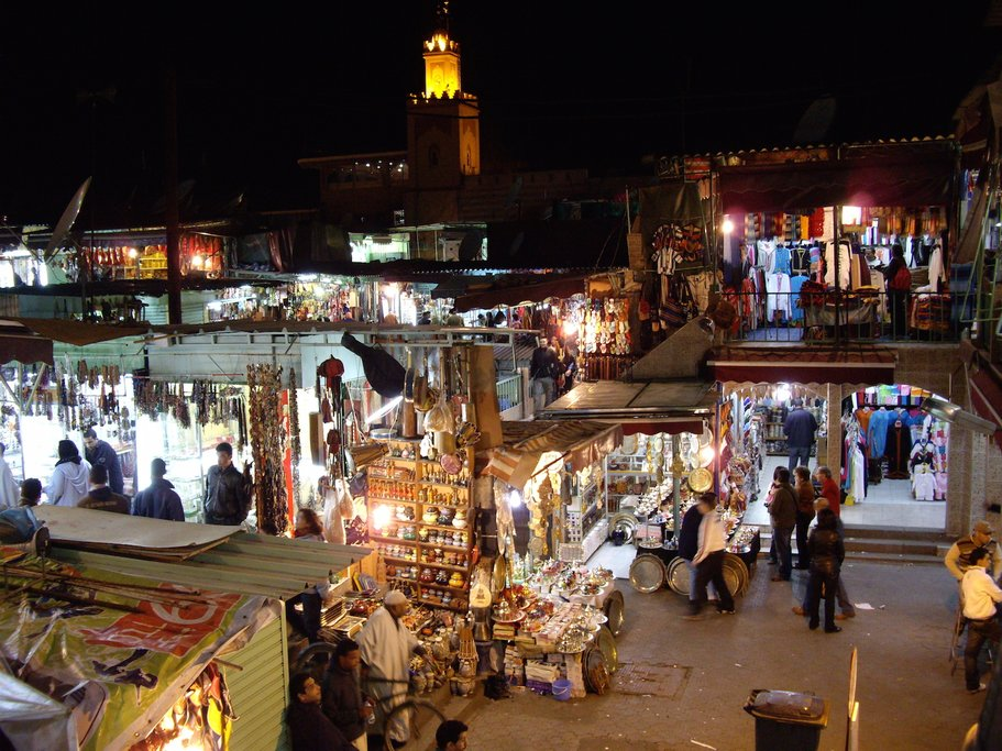 In Marrakech, Jemaa el-Fna becomes alive at night
