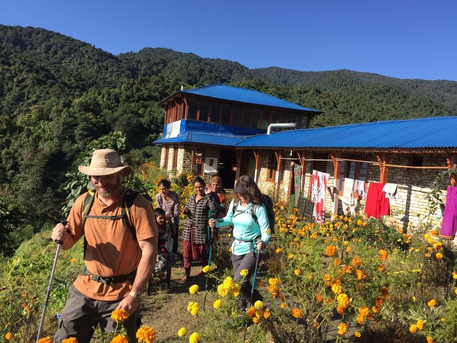 Trekking to Kalimati