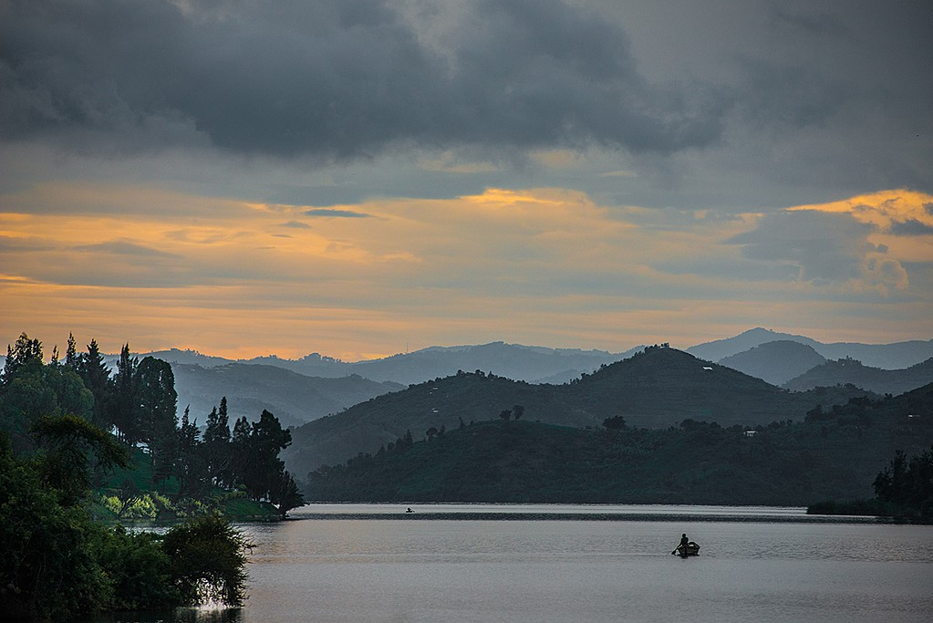 Lake Kivu at dusk
