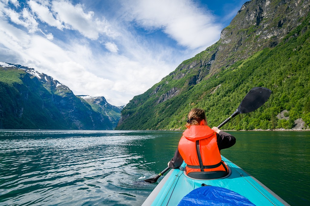 Explore the fjords by kayak