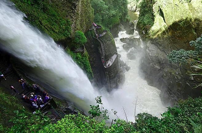 Scenic waterfall outside of Baños