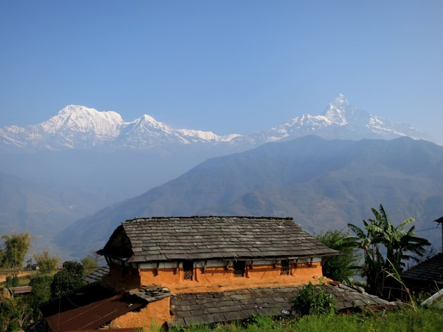 Astam with the Himalaya in the background