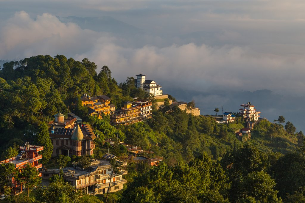 Nagarkot's advantageous location for Himalayan views