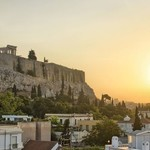 Parthenon overlooking the rooftops