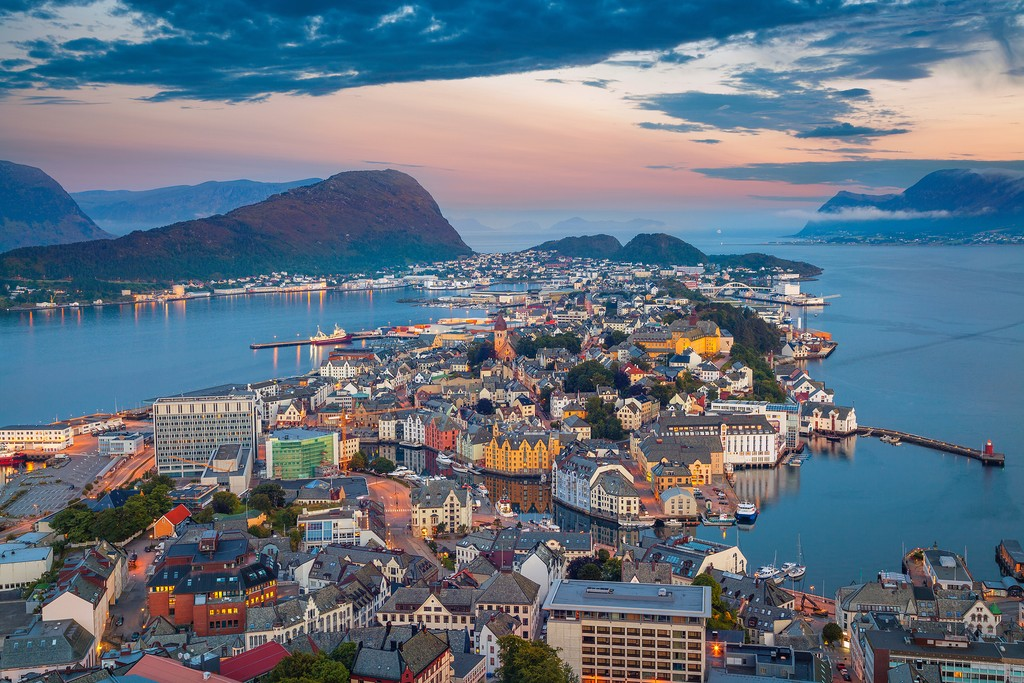 Ålesund at sunset