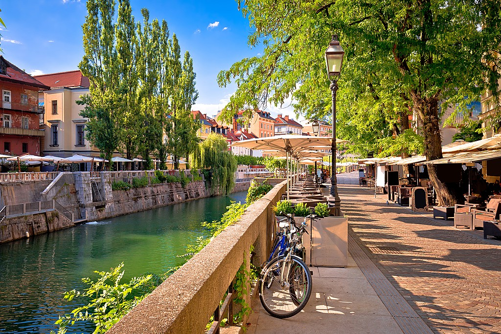 Spend a day walking along the Ljubljanica River