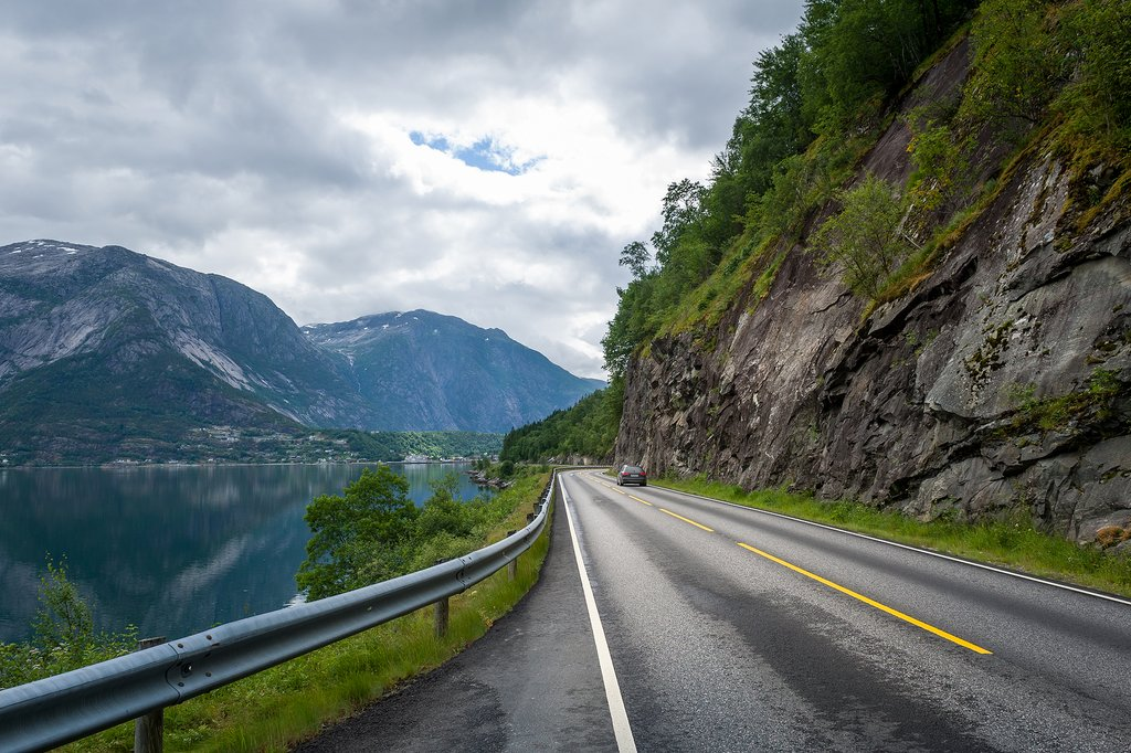 One of many scenic roads in Norway