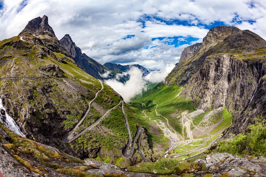 Trollstigen Road as seen from above