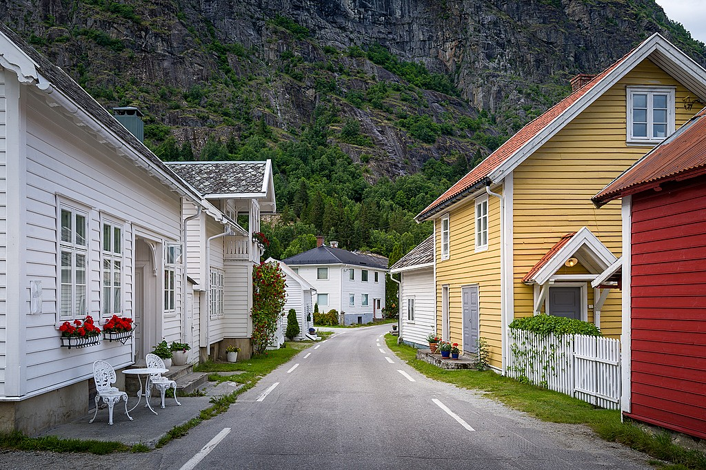The fjord-side village of Solvorn