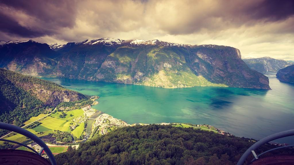 A stunning fjord view near Aurland
