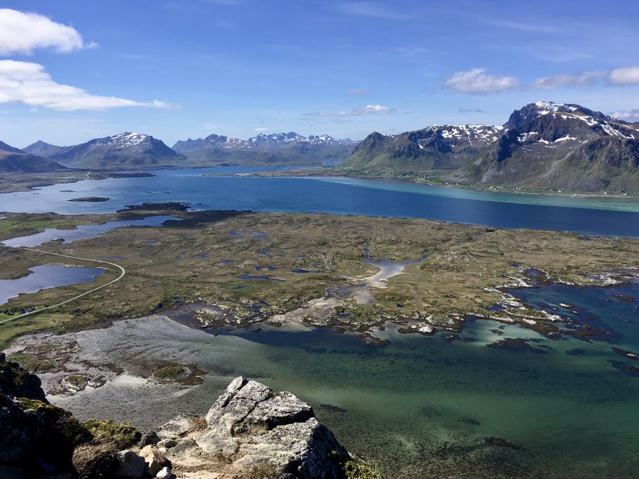 Lofoten Islands from Hoven Mountain