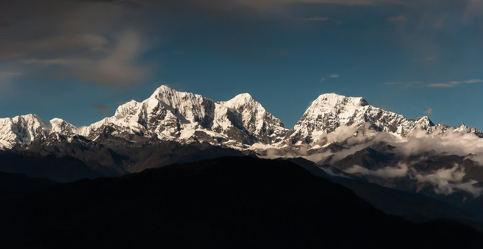 The View to Dudh Kunda Himal on day 1
