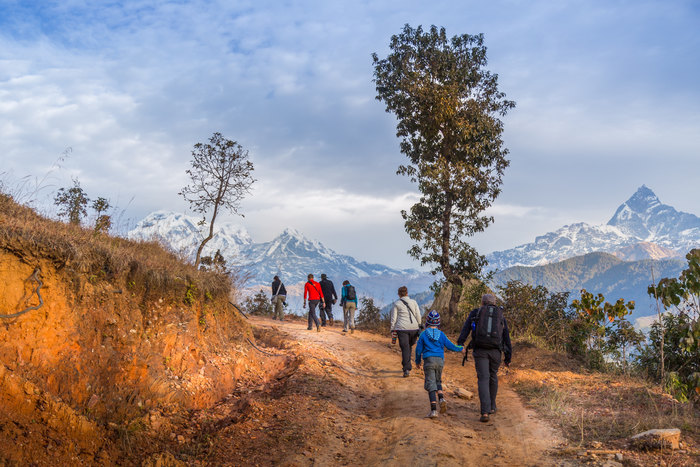 Trekking below the Annapurnas