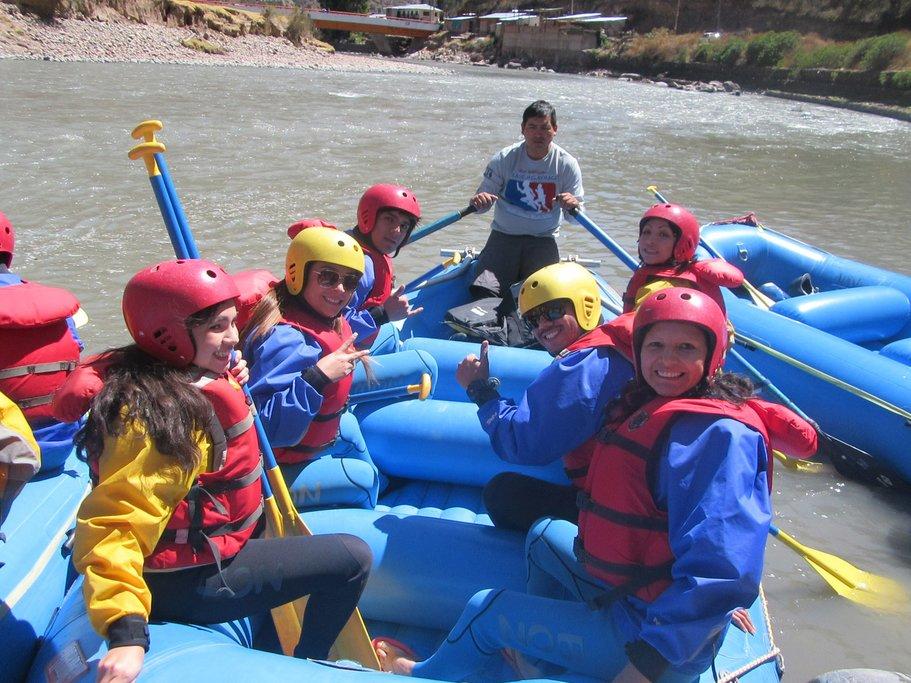 Rafting on the Urubamba River