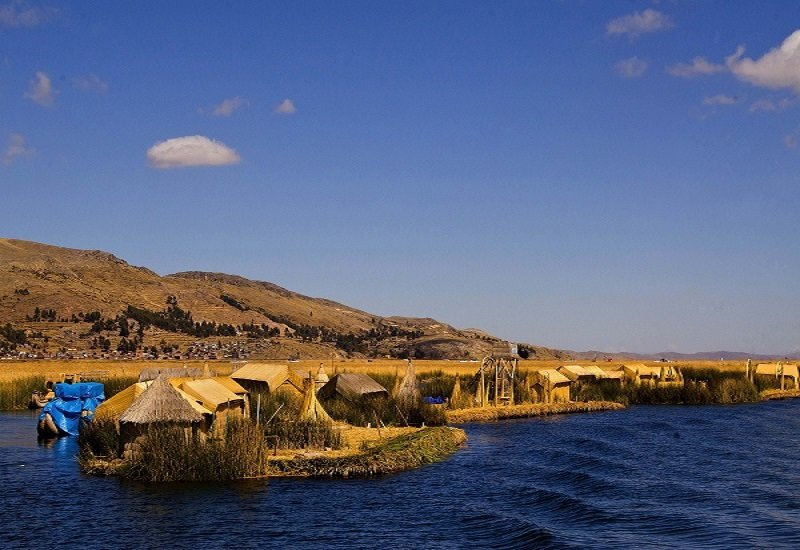 The Uros Islands on Lake Titicaca