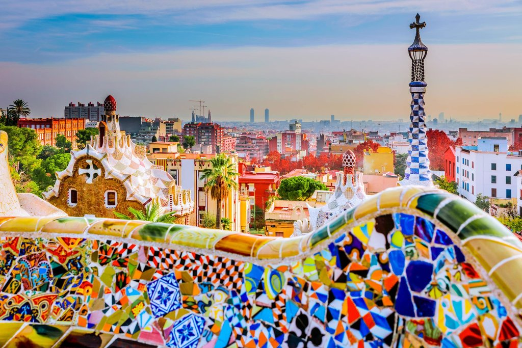 Colorful views of the city