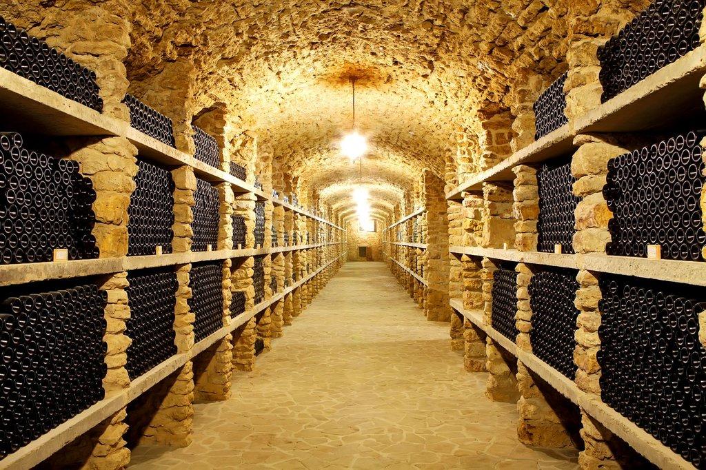 Underground cellar for storing wine