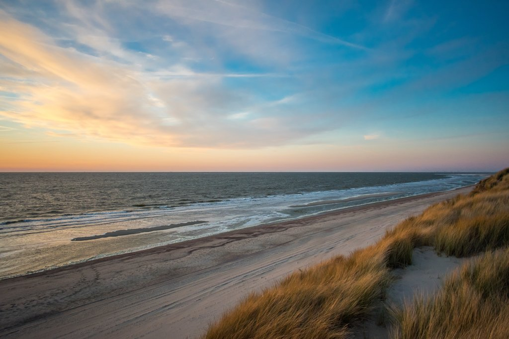 A windswept stretch of the Dutch coast