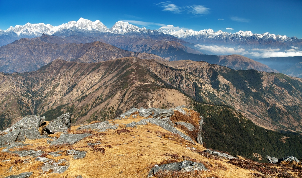 View on Mount Everest from Pikey Peak