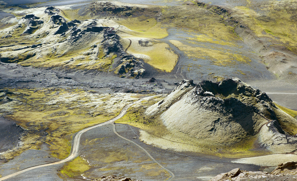 Laki Crater near the Jökuldalir valley