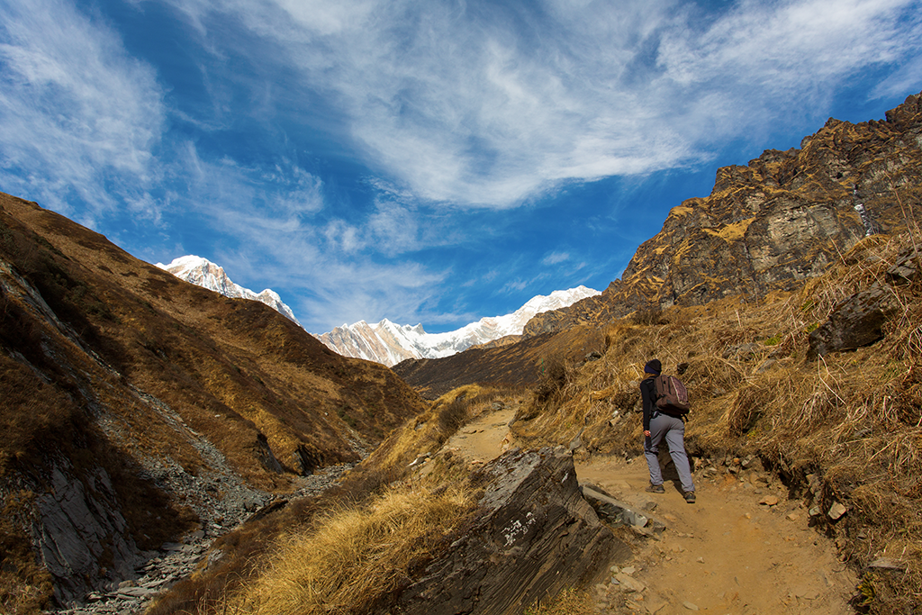 Trail to Annapurna Base Camp