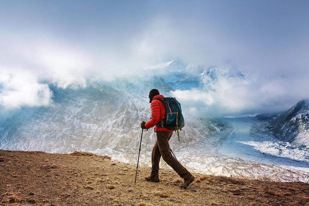 Hiker in Nepal