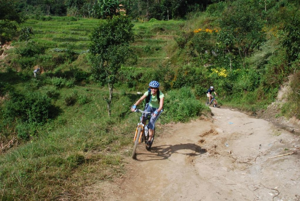 Riding down the scenic Himalayan Trails