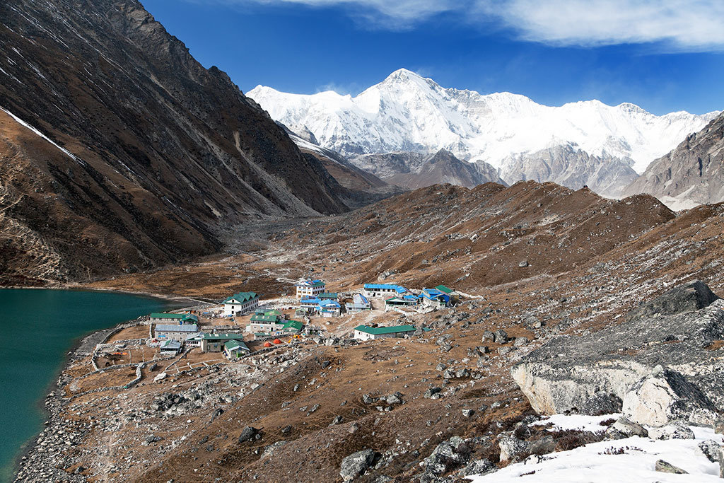 Gokyo Village with Cho Oyu