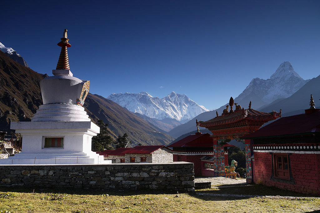 Everest & Ama Dablam from Tengboche