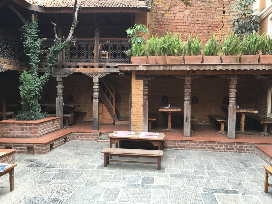 Courtyard at the Patan Inn
